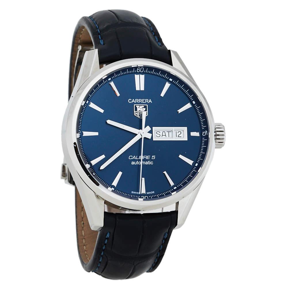 TAG Heuer Carrera Blue Stainless Steel Calibre 5 WAR201E Men's Wristwatch 41MM