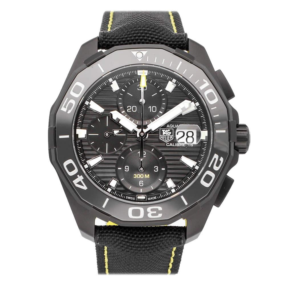 Tag Heuer Black Titanium Aquaracer Chronograph Calibre 16 CAY218A.FC6361 Men's Wristwatch 43 MM