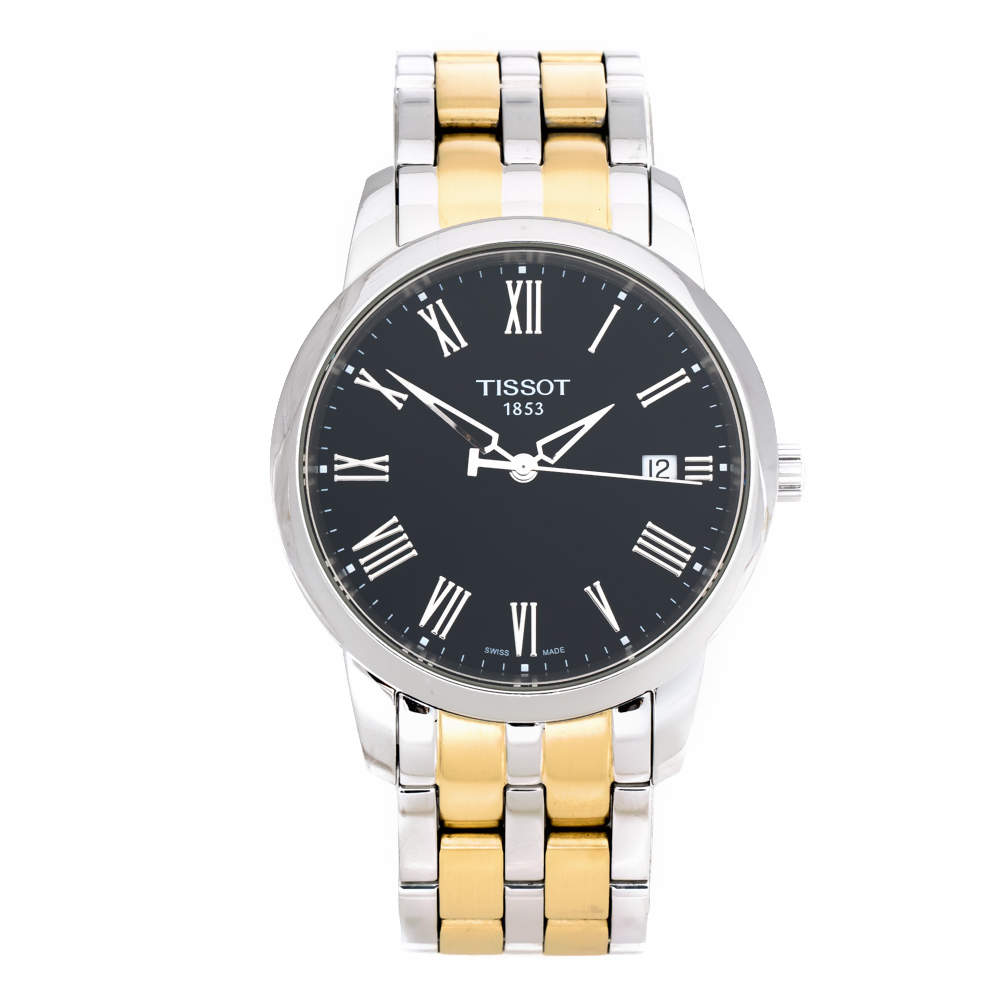 Tissot Black Two-Tone Stainless Steel Classic Dream T033410A Men's Wristwatch 38 mm