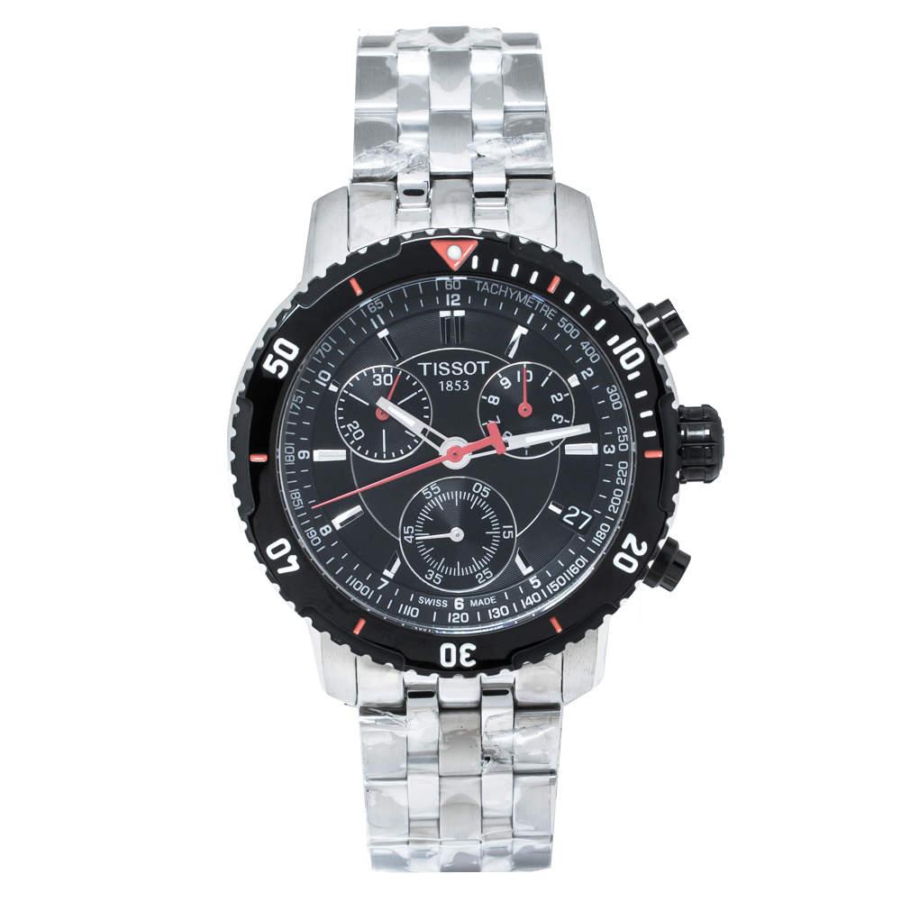 Tissot Black Stainless Steel PRS200 T067417A Men's Wristwatch 42 mm