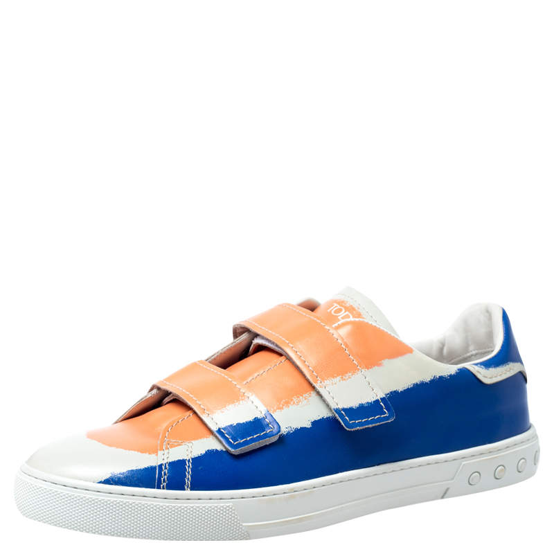 Tod's Multicolor Leather Velcro Strap Sneakers Size 43