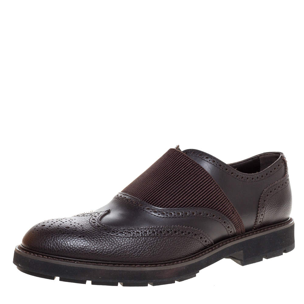 Tod's Brown Brogue Leather Oxfords Size 44
