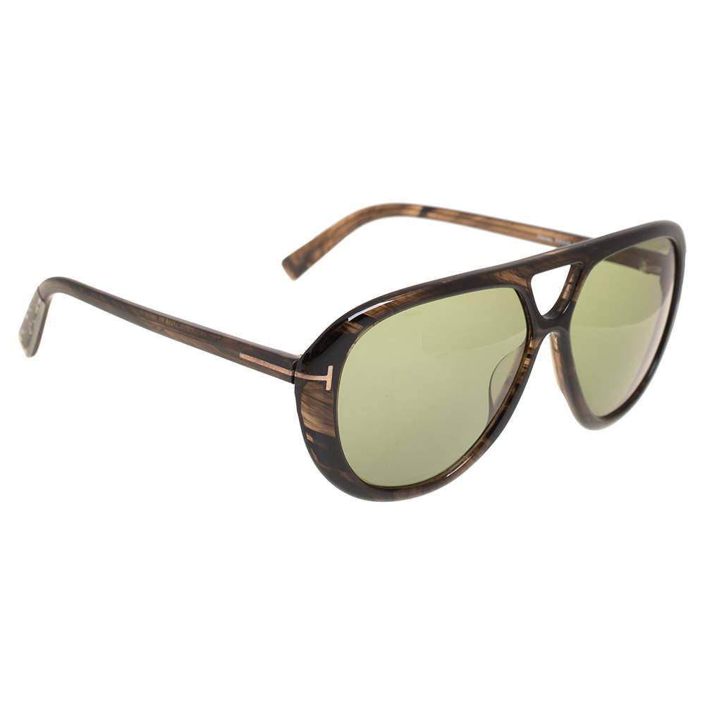 نظارة شمسية توم فورد مارلي تي أف510 بيلوت خضراء و بني هافانا