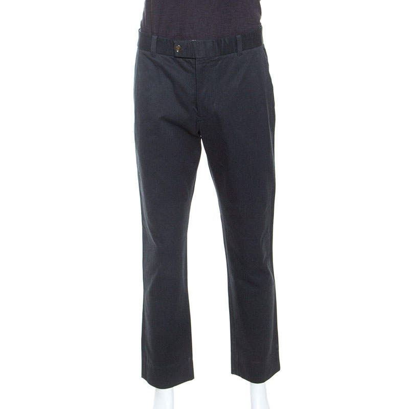Tom Ford Navy Blue Cotton Twill Tapered Shelton Pants XL