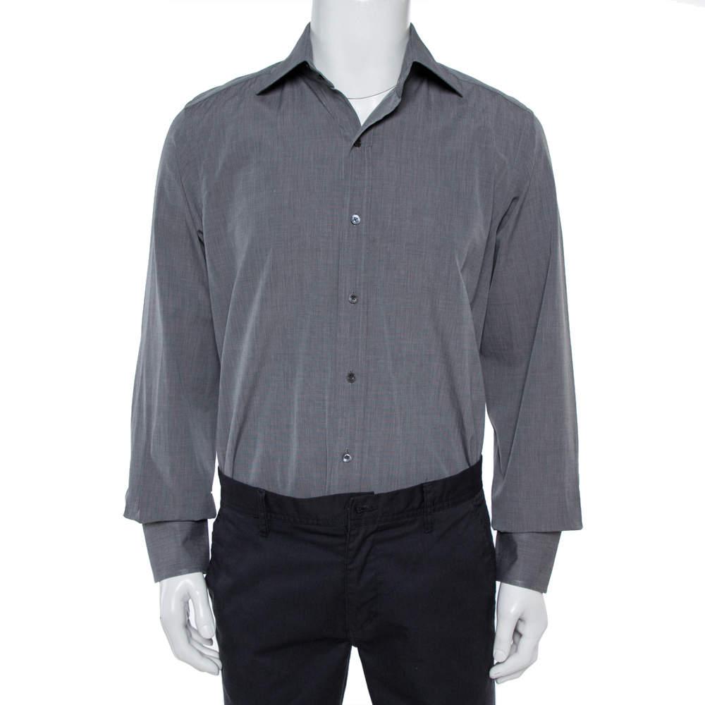 Tom Ford Grey Formal Shirt XL