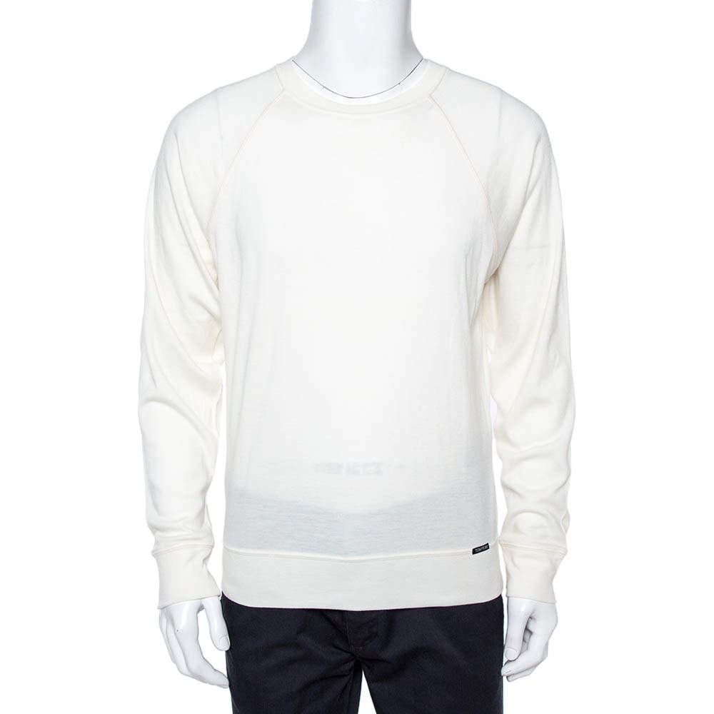 Tom Ford Cream Cashmere Sweatshirt XL