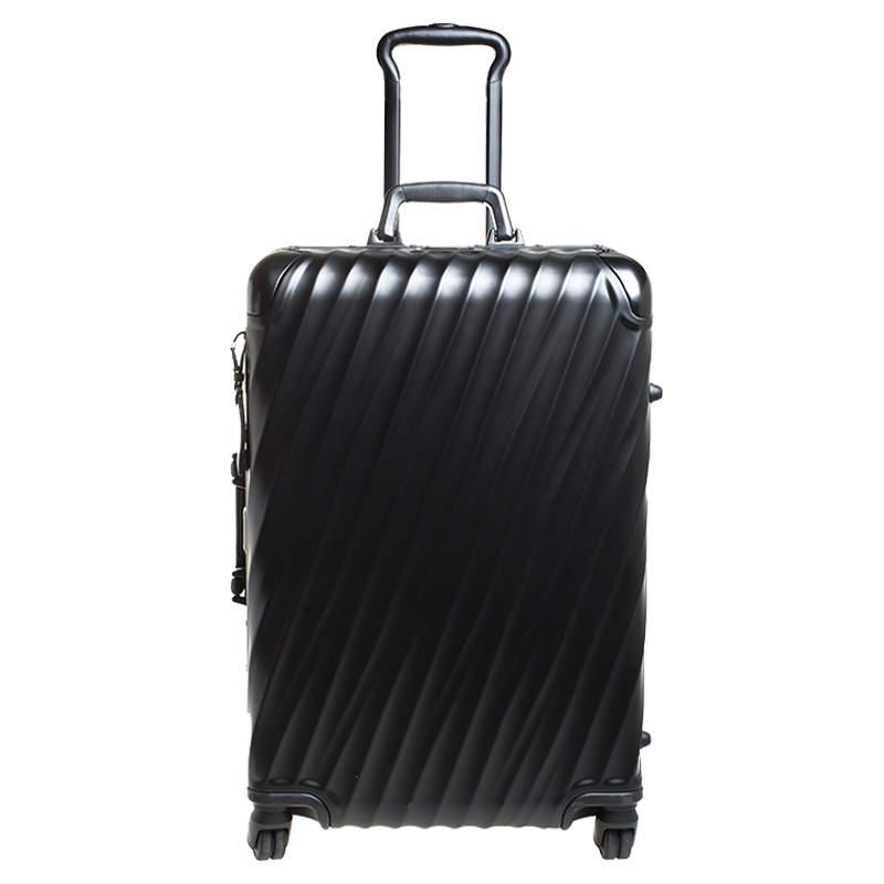Tumi Black Aluminum 4 Wheel Short Trip Packing Case 19 Degrees Luggage