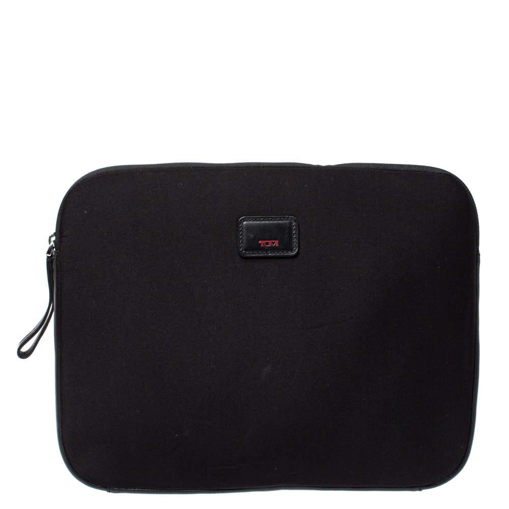 Tumi Black Neoprene Laptop Cover