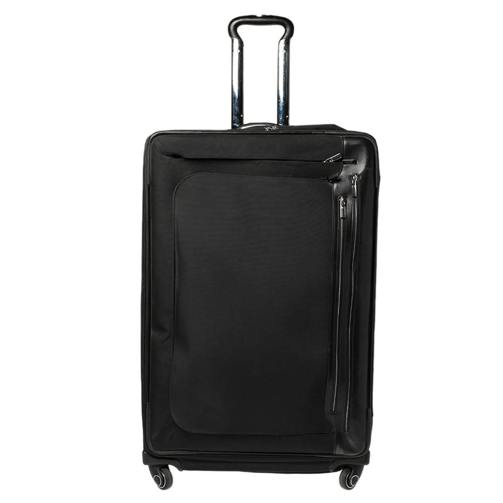 TUMI Black Canvas Arrive Extended Dual Access 4 Wheeled Packing Case Luggage