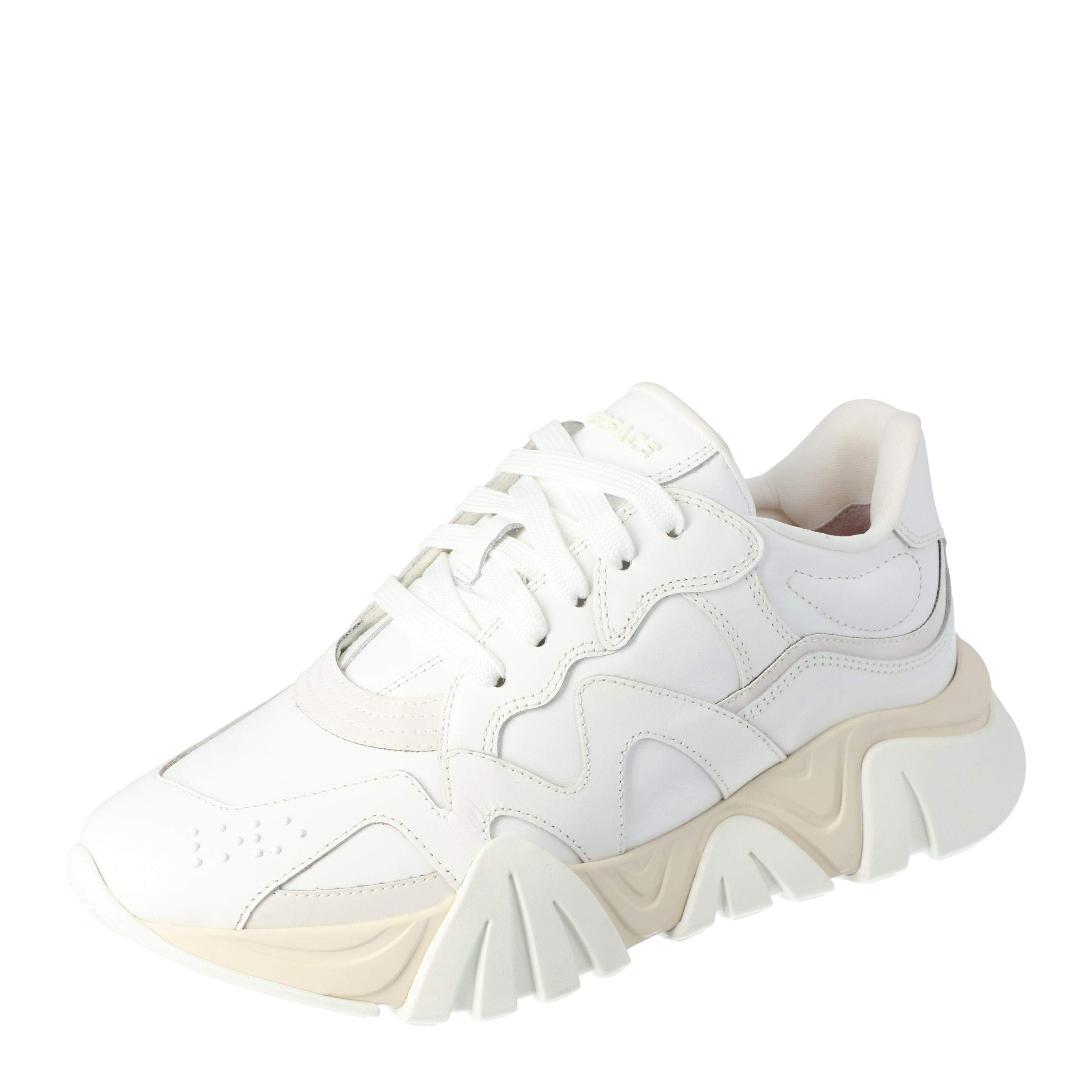 Versace White Leather Squalo Platform Sneakers Size 40.5