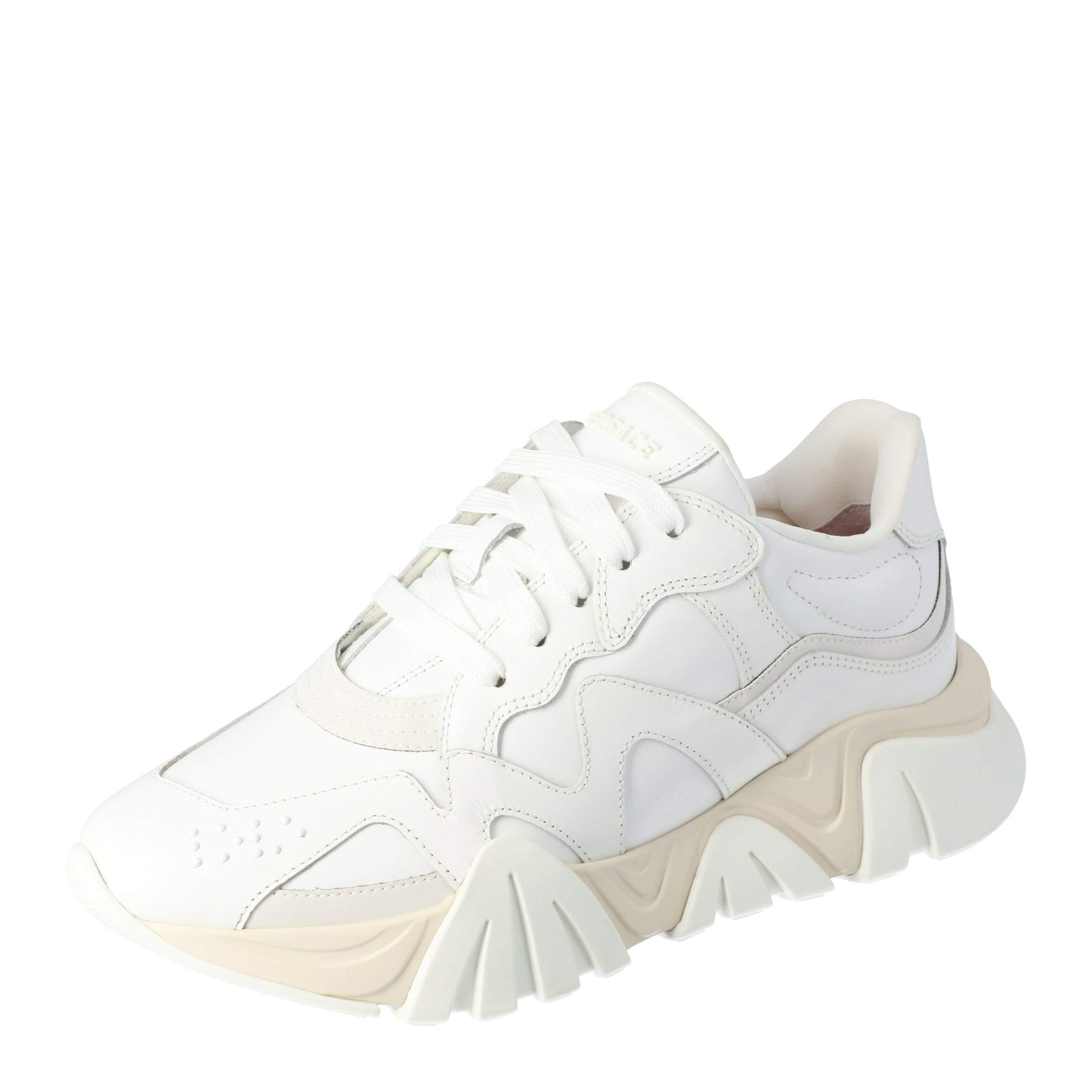 Versace White Leather Squalo Platform