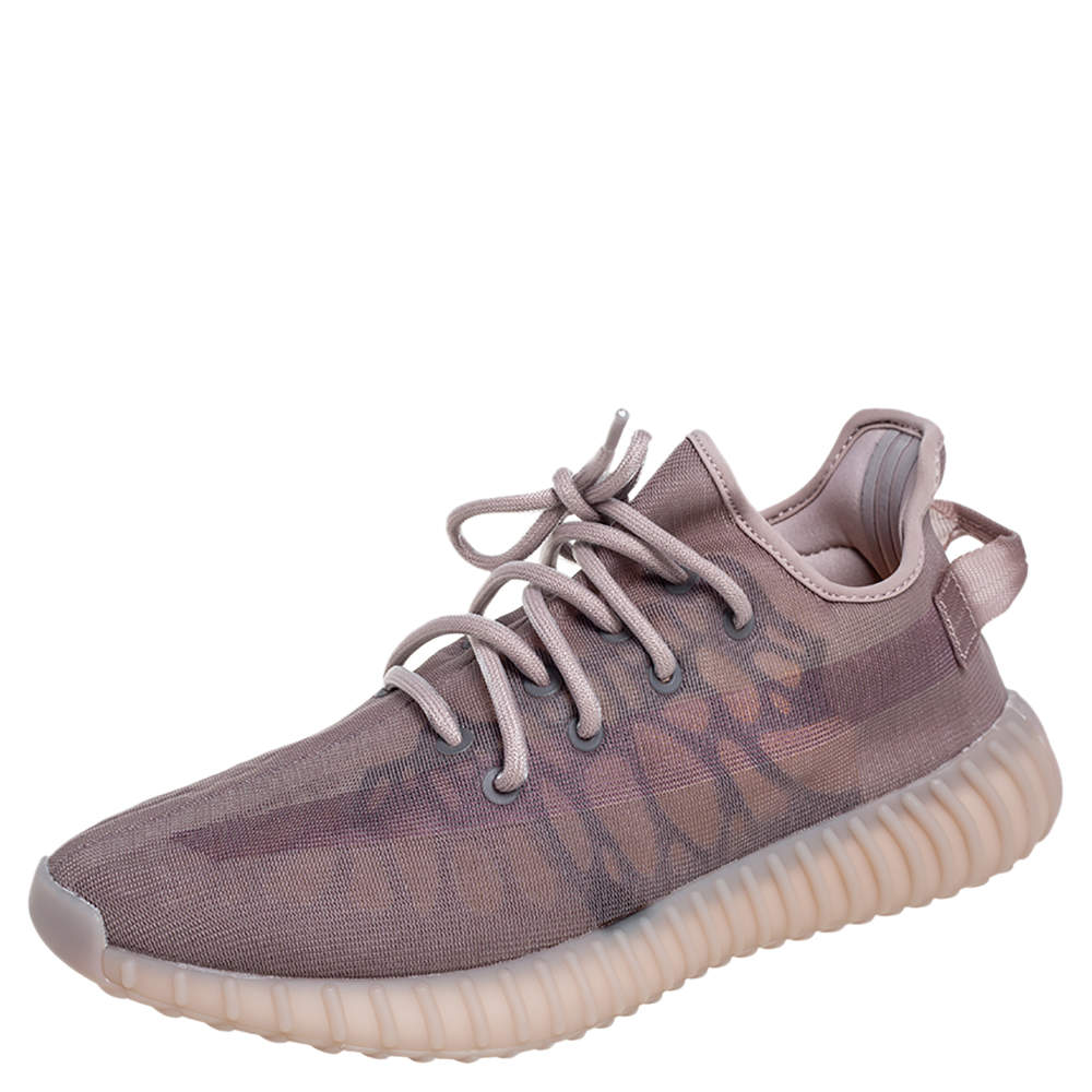Yeezy x Adidas Beige Mesh 350 V2 Mono Mist Sneakers Size 42 2/3