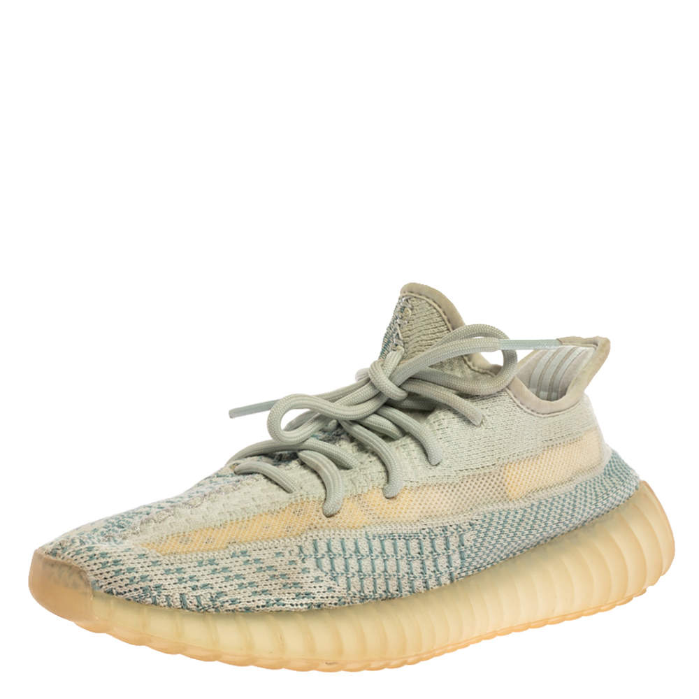 Yeezy x Adidas Blue/White Cotton Knit Boost 350 V2 'Cloud White' Sneakers Size 38