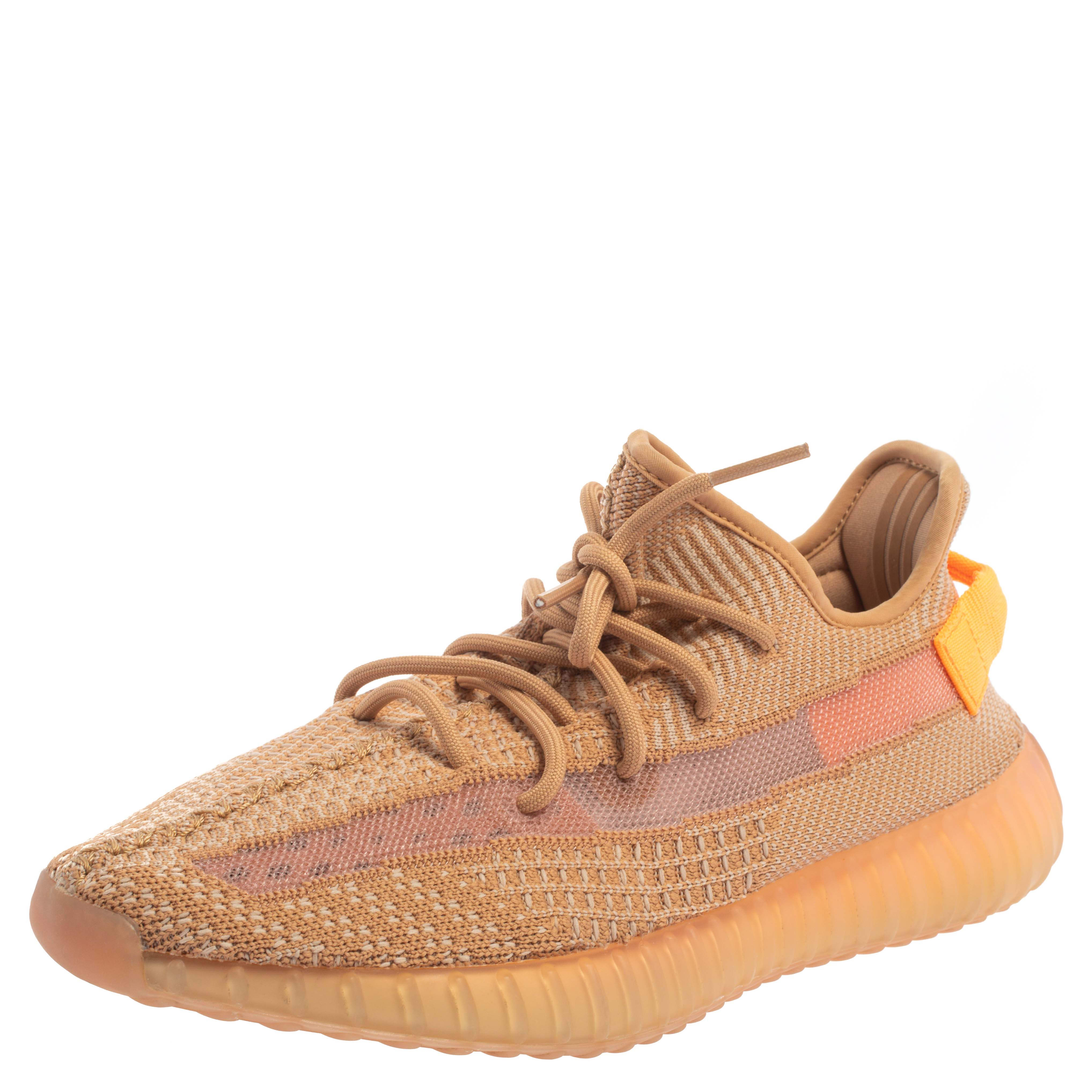 Adidas Yeezy Boost 350 V2 Cotton Knit Clay Sneakers Size 42 2/3