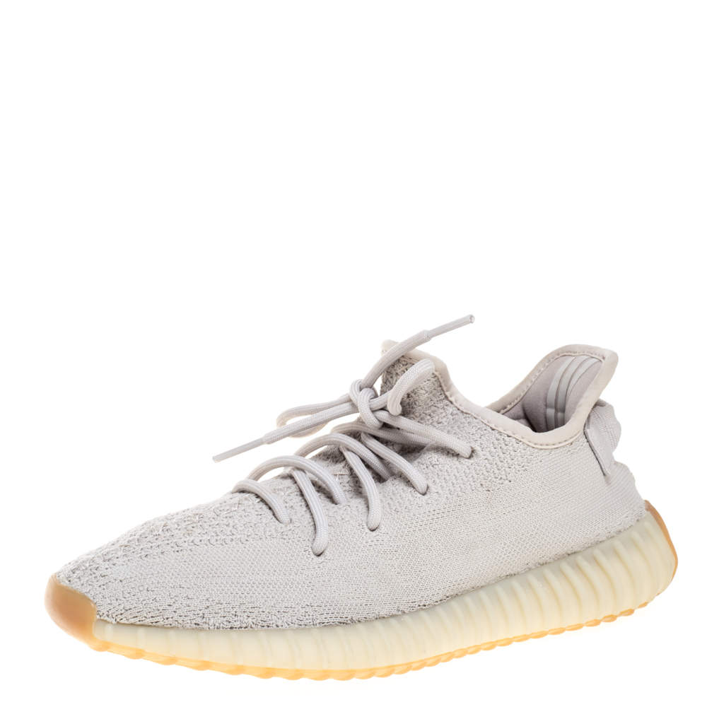 Yeezy x Adidas Sesame Cotton Knit Boost 350 V2 Sneakers Size 41.5