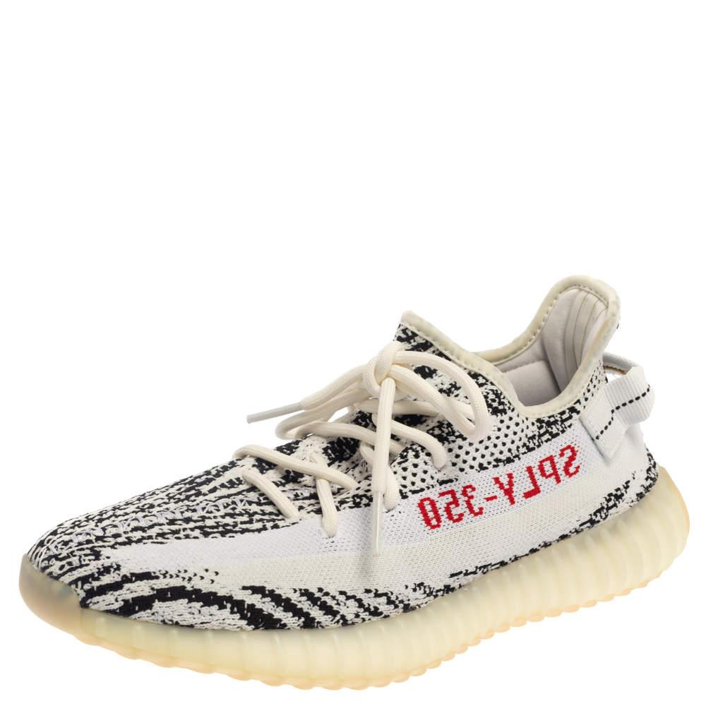 Yeezy x Adidas White/ Black Yeezy Boost 350 V2 Zebra Sneakers Size 43.5