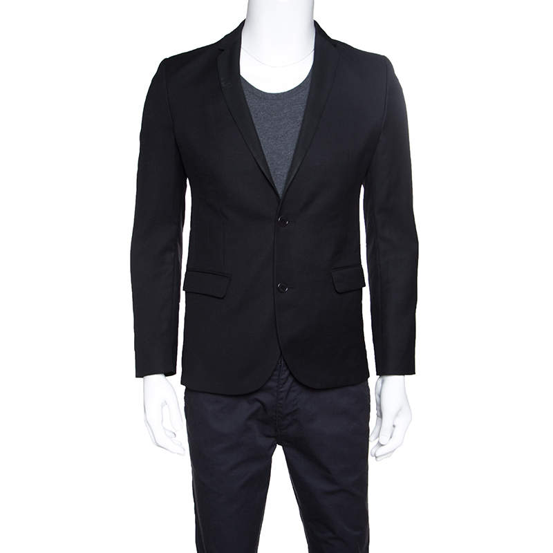 Zadig and Voltaire Black Wool Version Smocking Blazer S
