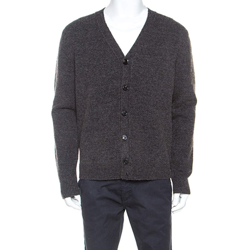 Zadig and Voltaire Charcoal Grey Wool Knit Cardigan M