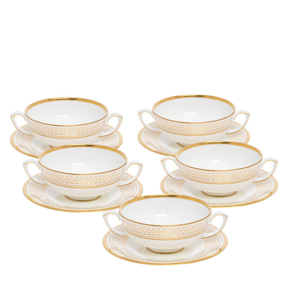 Cartier La Maison Des Must Cream Soup Cup with Saucer Set for Six