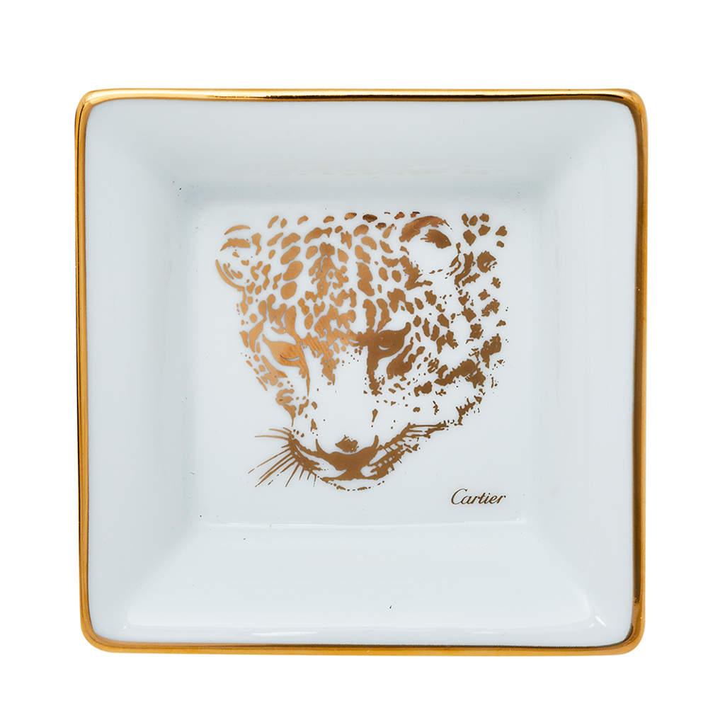 Cartier Porcelain Mini Panthere de Cartier Trinket Tray