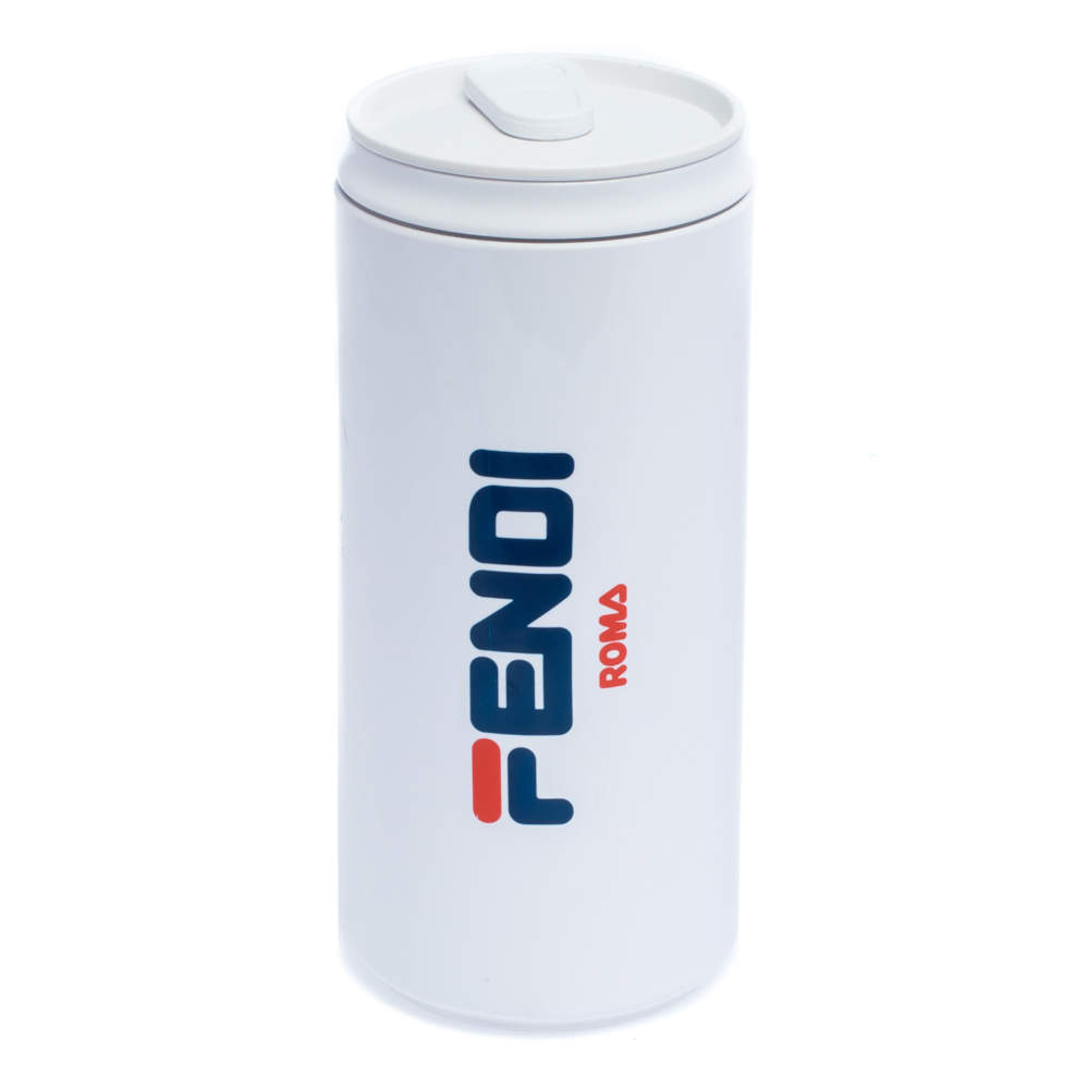 Fendi White Plastic Tumbler