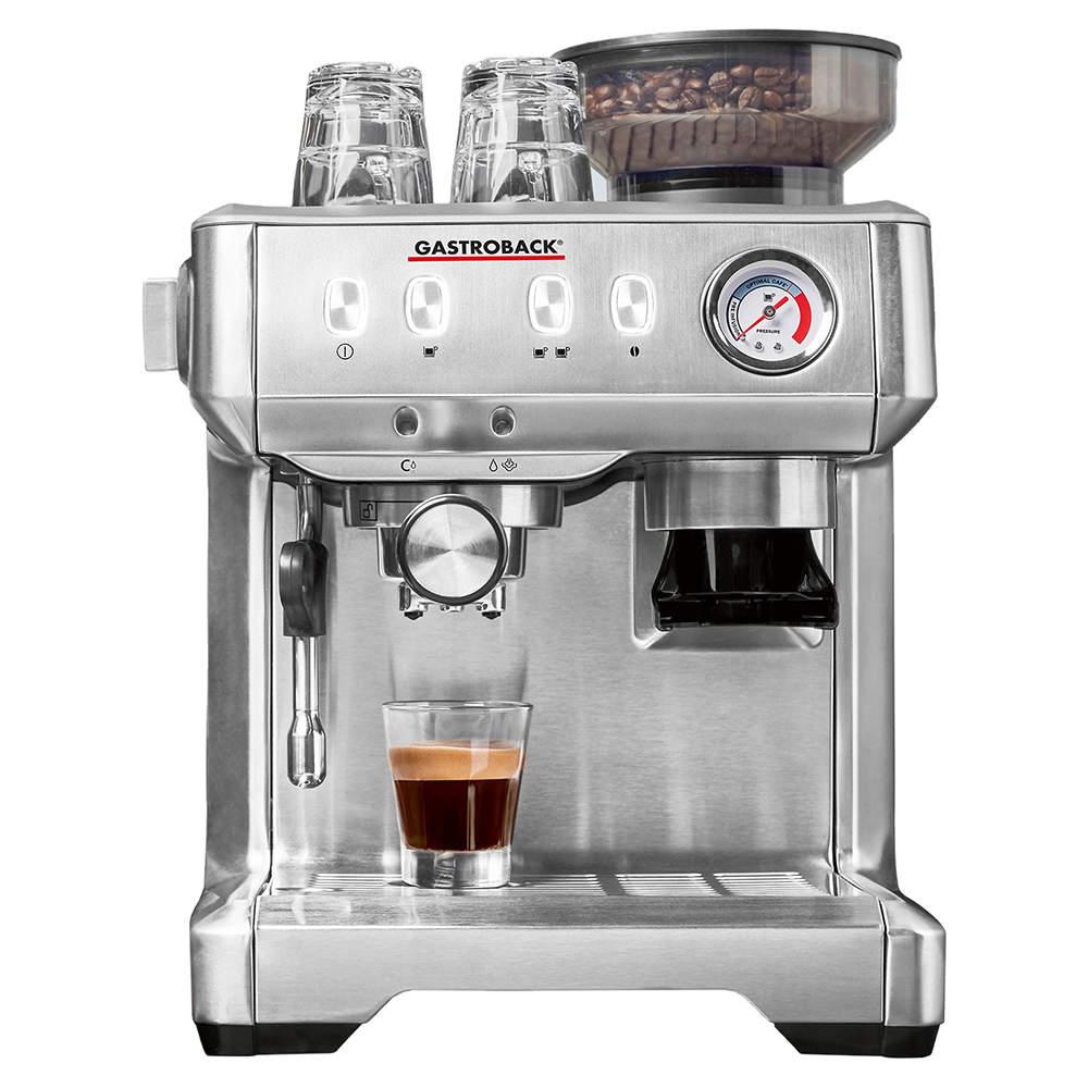Gastroback Design Espresso Advanced Barista Portafilter Espresso Machine, Silver (Available for UAE Customers Only)