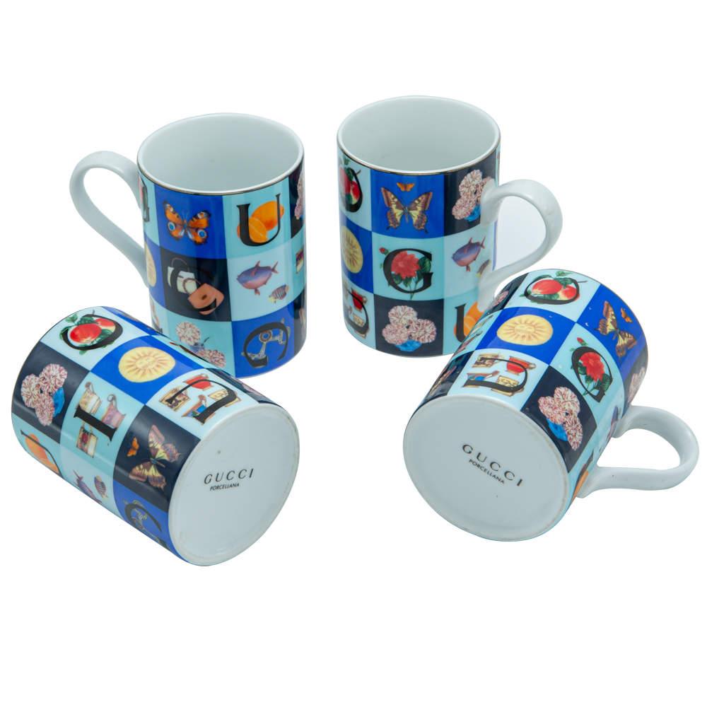 Gucci Porcelain Mugs Set of 4