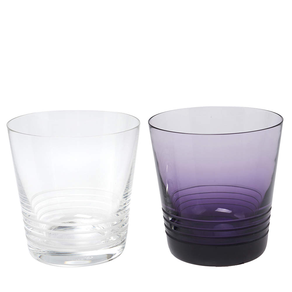 Hermes X Saint Louis Attelage GM Conical Crystal Tumbler Set of 2