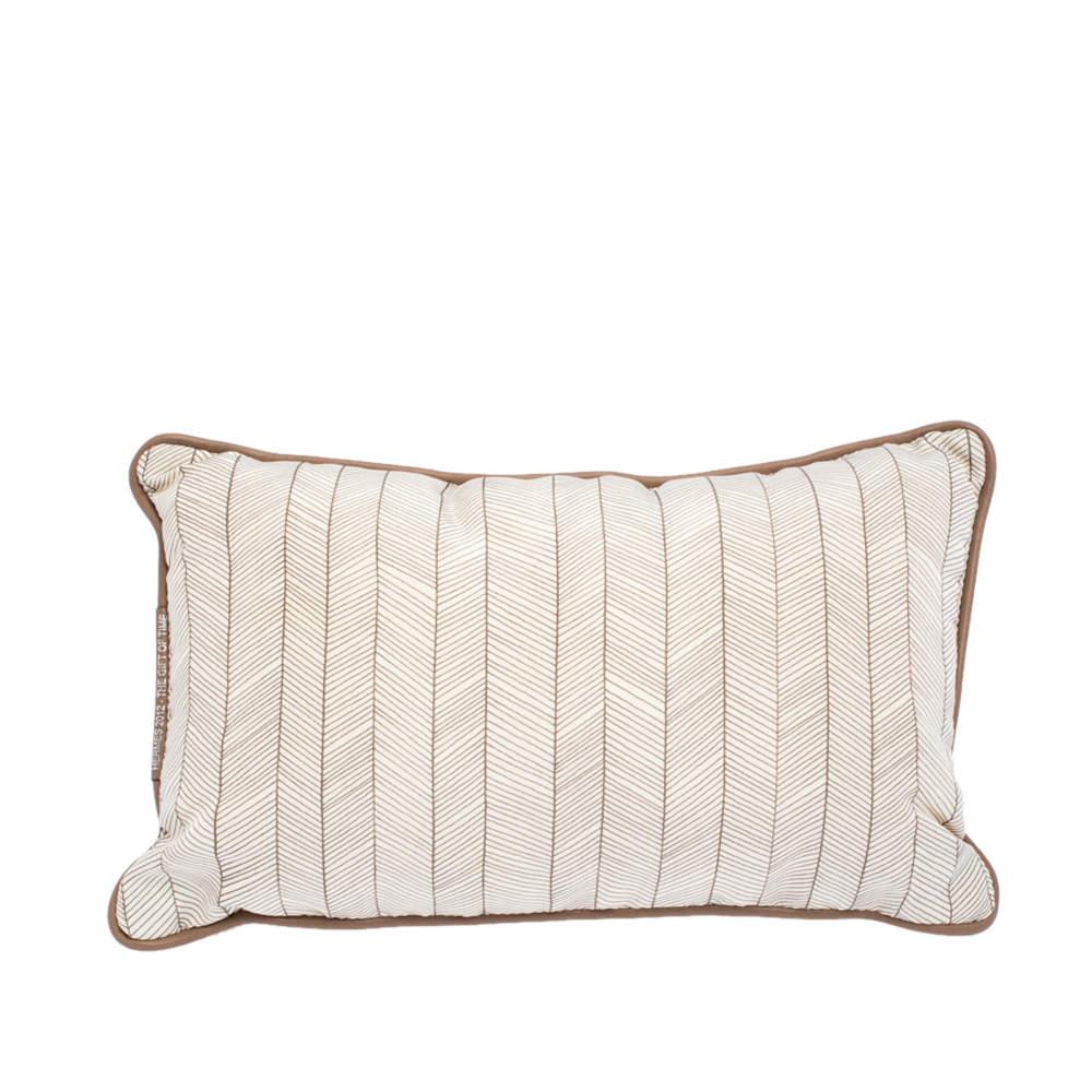 Hermes Beige & Brown Grand Chevron Print + H Tech Canvas Travel Pillow