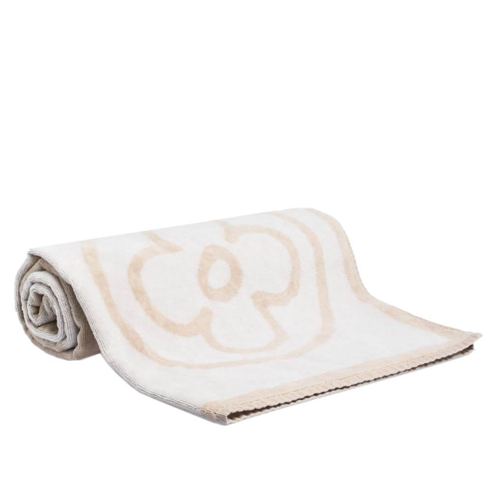 Louis Vuitton Cream Monogram Patterned Beach Towel