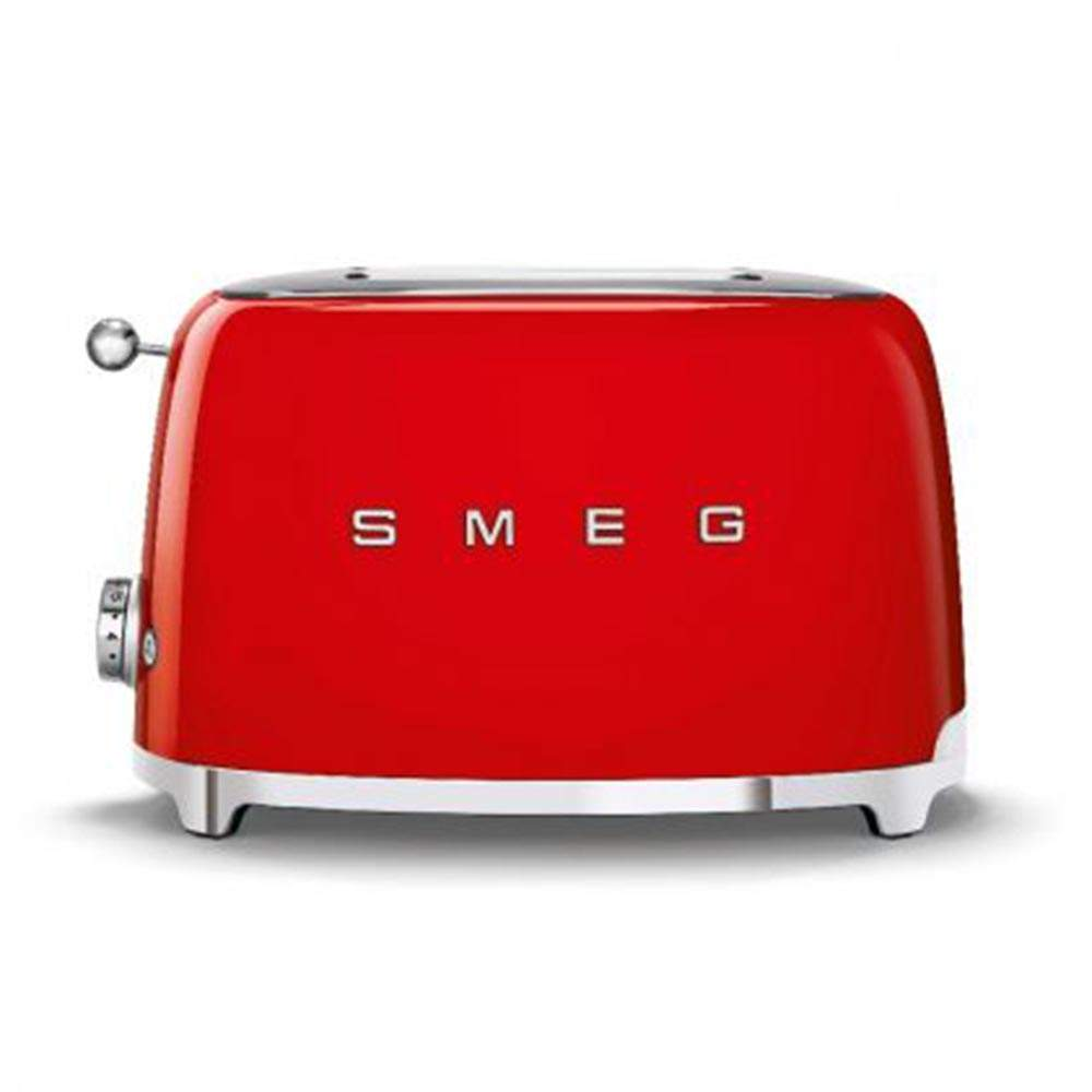 Smeg 50's Retro Style Aesthetic 2 Slice Toaster,Red (Available for UAE Customers Only)