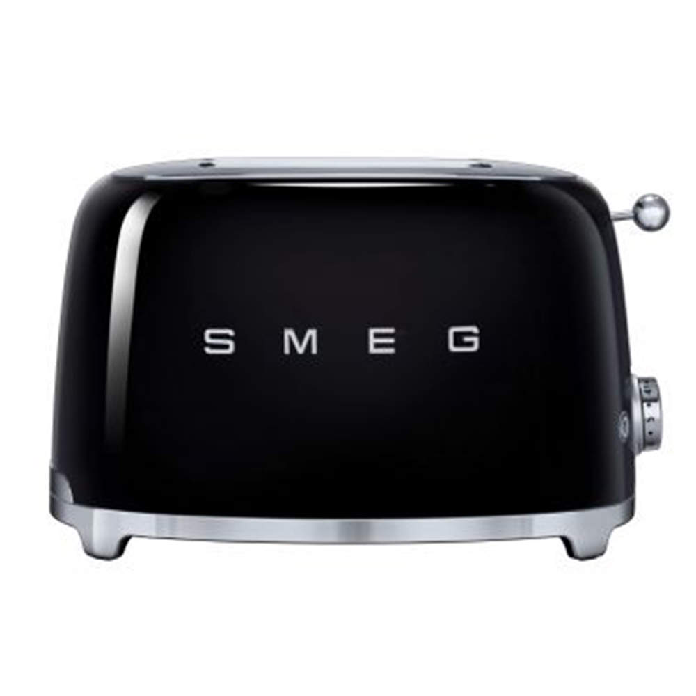 Smeg 50's Retro Style Aesthetic 2 Slice Toaster, Black (Available for UAE Customers Only)