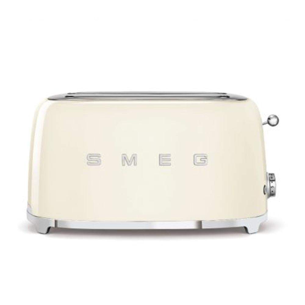 Smeg 50's Retro Style Aesthetic 4 Slice Toaster, Cream (Available for UAE Customers Only)