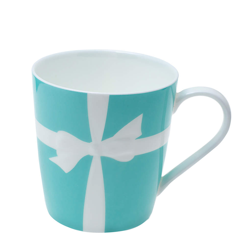 Tiffany & Co. Turquoise Porcelain Bow Mug