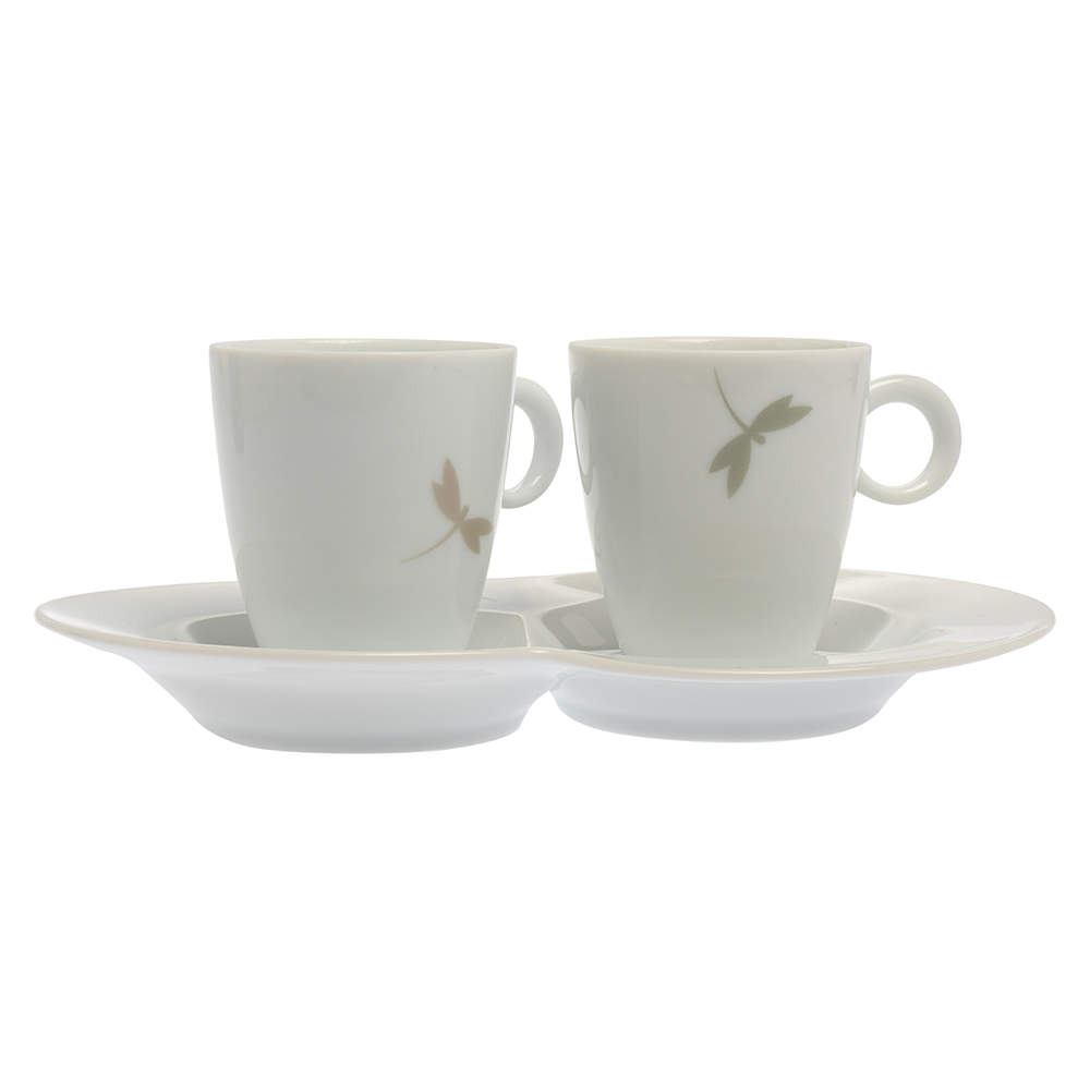 Van Cleef & Arpels Dragonfly 3 Pc Tea Cup & Saucer Set
