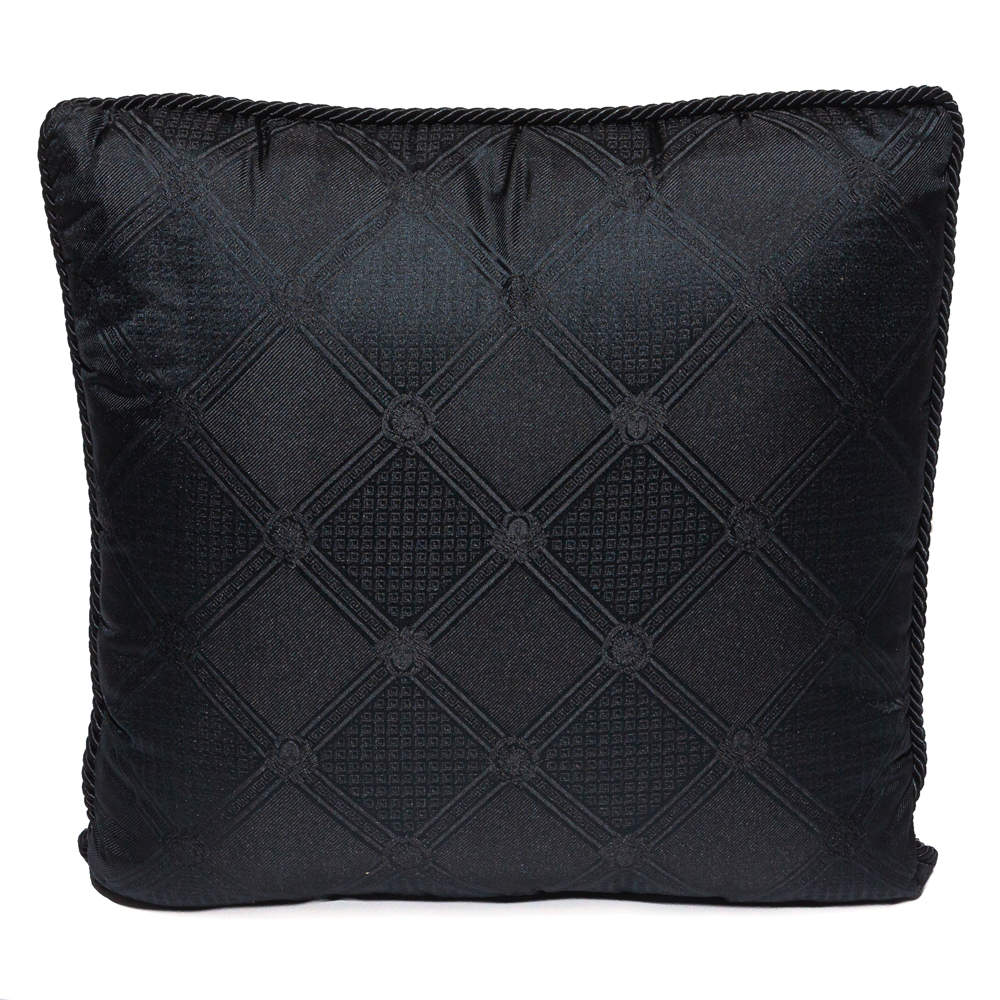 Versace Medusa Black Cotton Cushion
