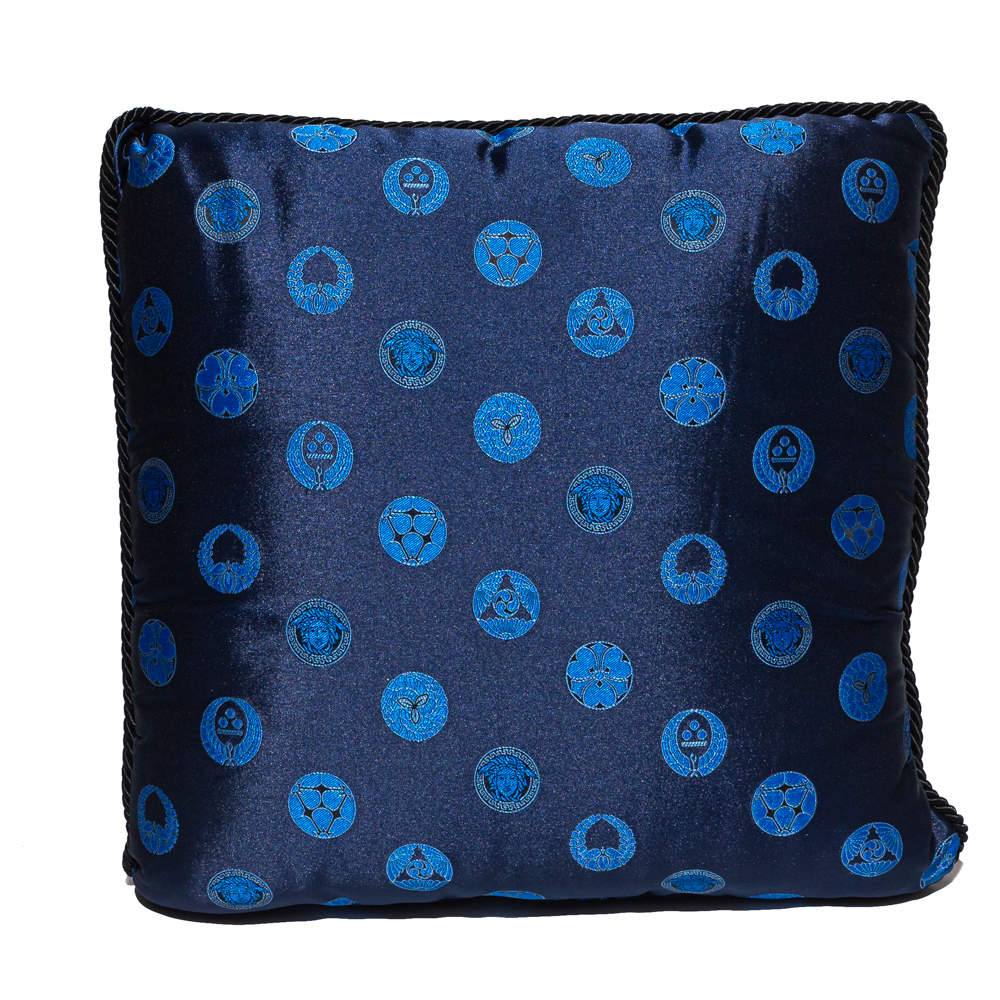 Versace Blue & Red Cotton Cushion