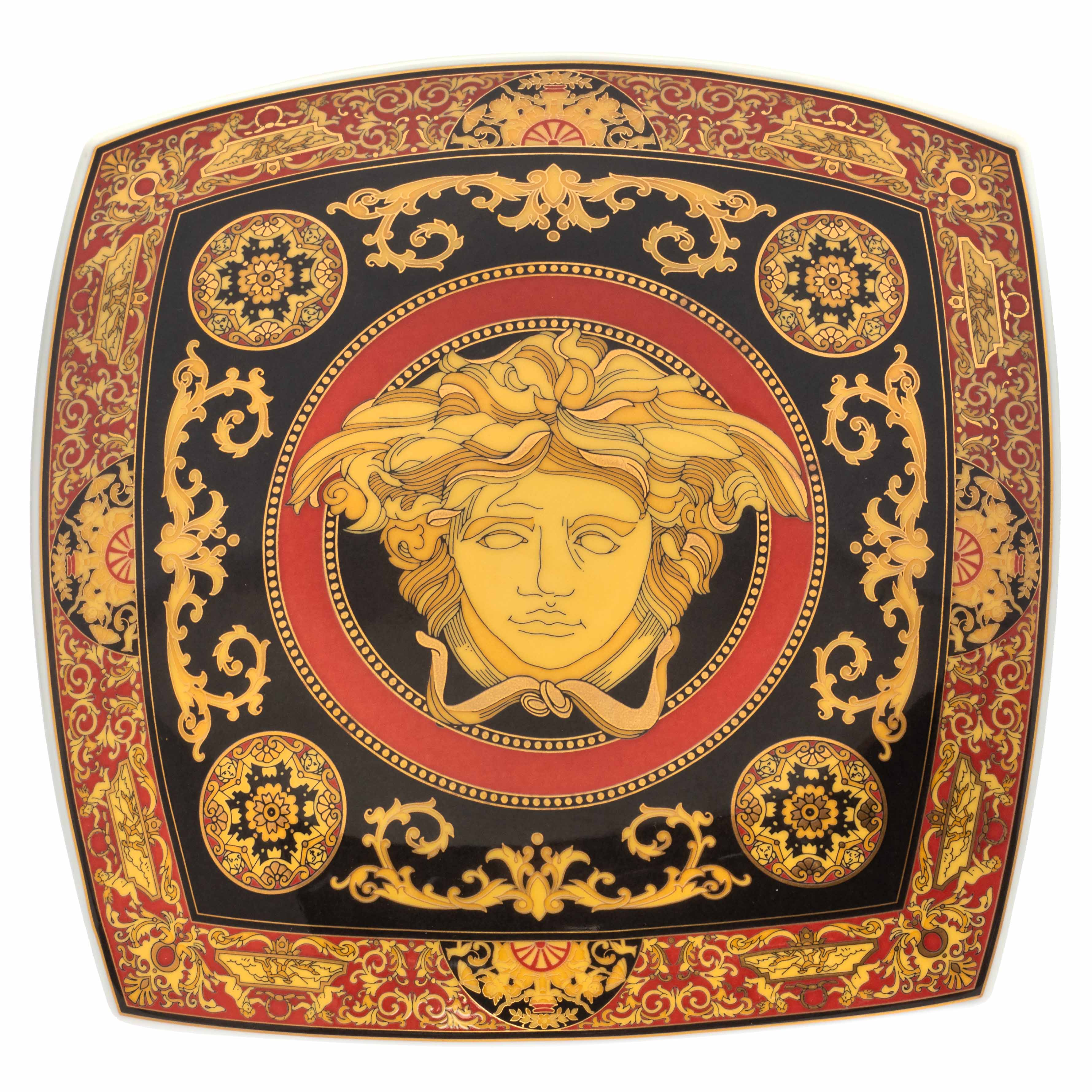 Rosenthal Meets Versace Medusa Square Dish