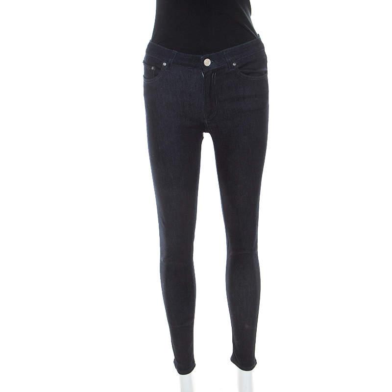 Acne Studios Blue Dark Wash Denim Kin 5 Candy Skinny Jeans S