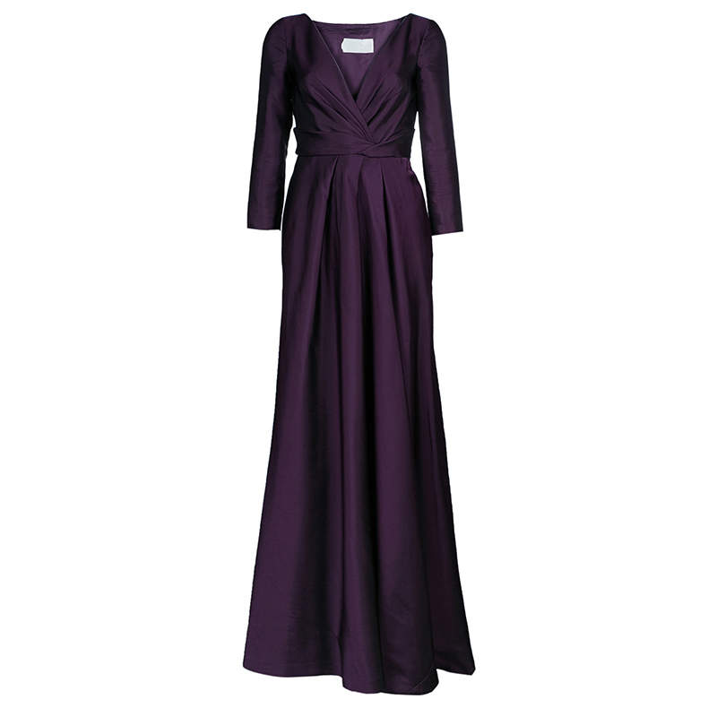 Alberta Ferretti Limited Edition Purple Silk Gown S