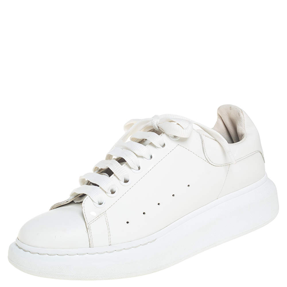 Alexander McQueen Off-White Leather Oversized Sneakers Size 40