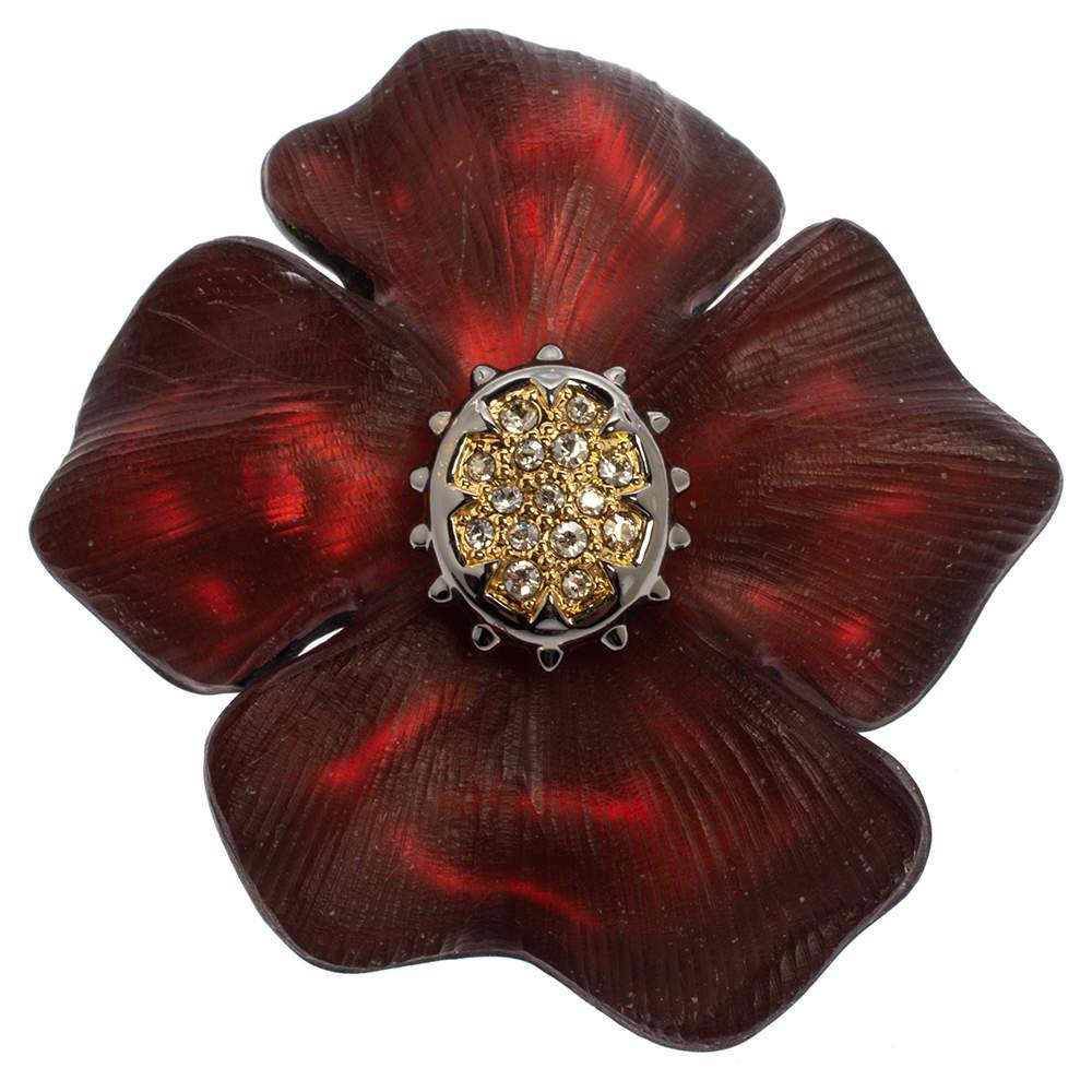 Alexis Bittar Georgian Flower Pin Brooch