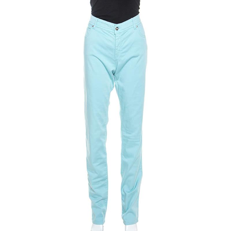Armani Collezioni Blue Cotton Slim Fit Jeans L