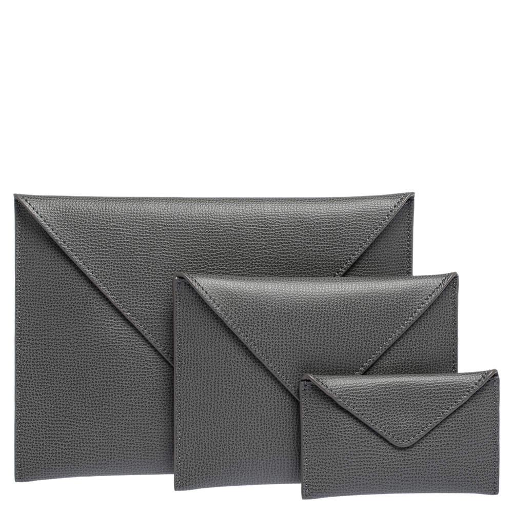 Audemars Piguet Grey Leather Pouch Set