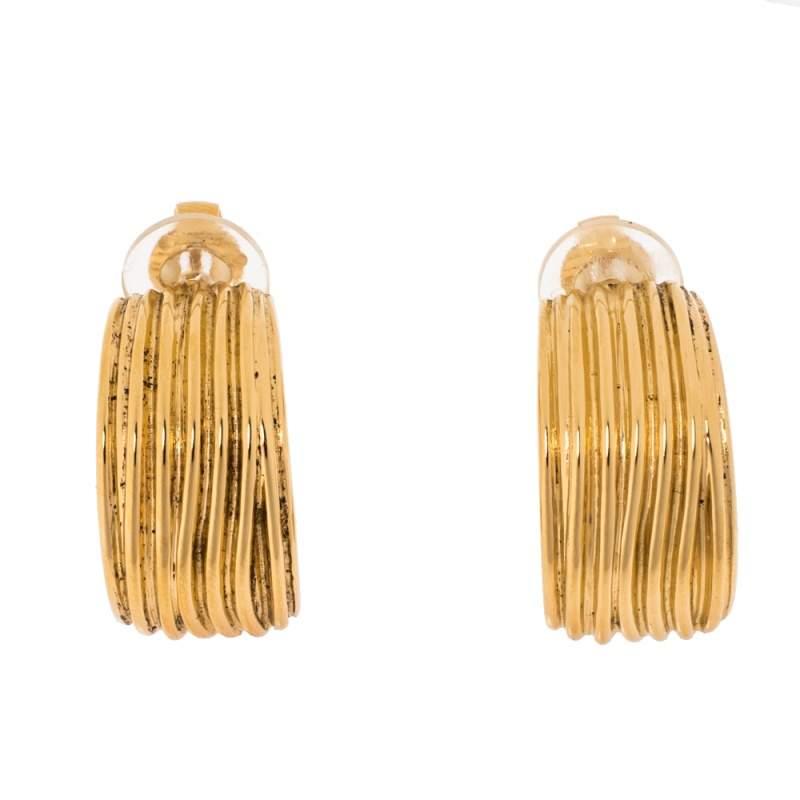 Aurelie Bidermann Thalia Gold Plated Clip On Earrings
