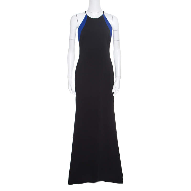 Badgley Mischka Collection Colorblock Sleeveless Evening Gown S