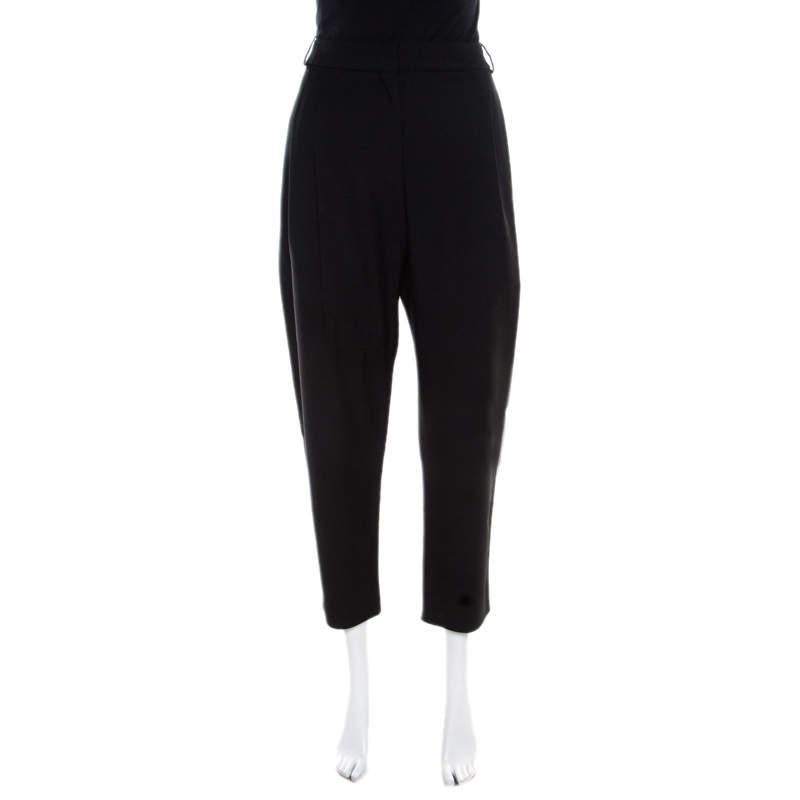 Balenciaga Black Knit Straight Fit Trousers L