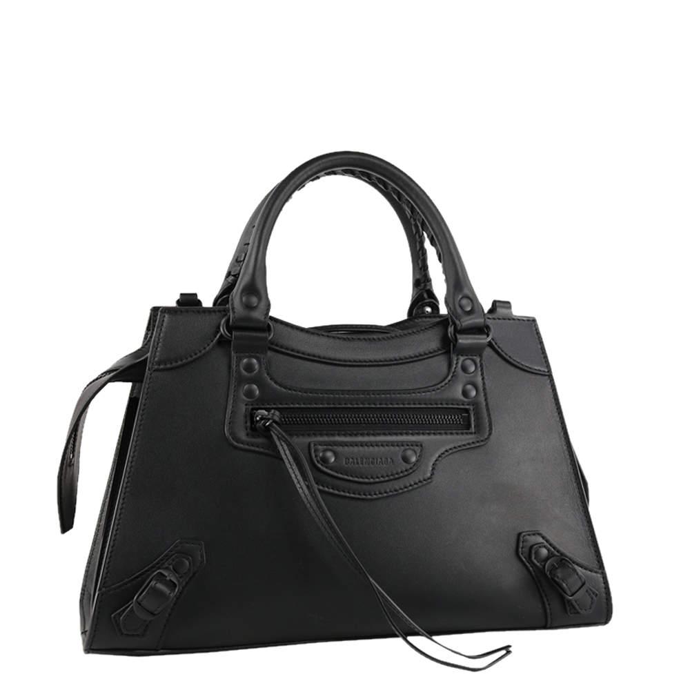 Balenciaga Black Leather Neo Classic Small Top Handle Bag