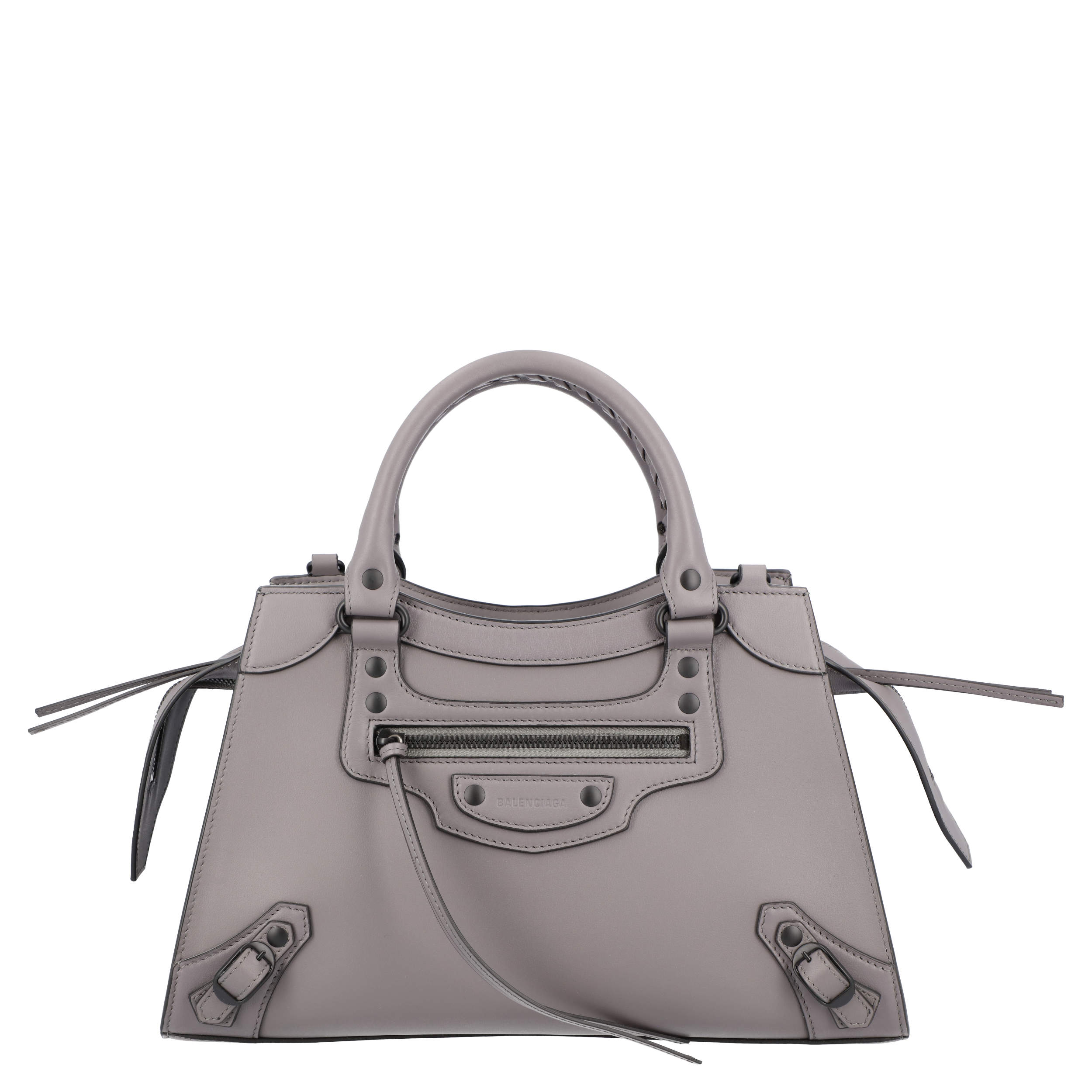 Balenciaga Grey Leather Neo Classic Small top handle bag