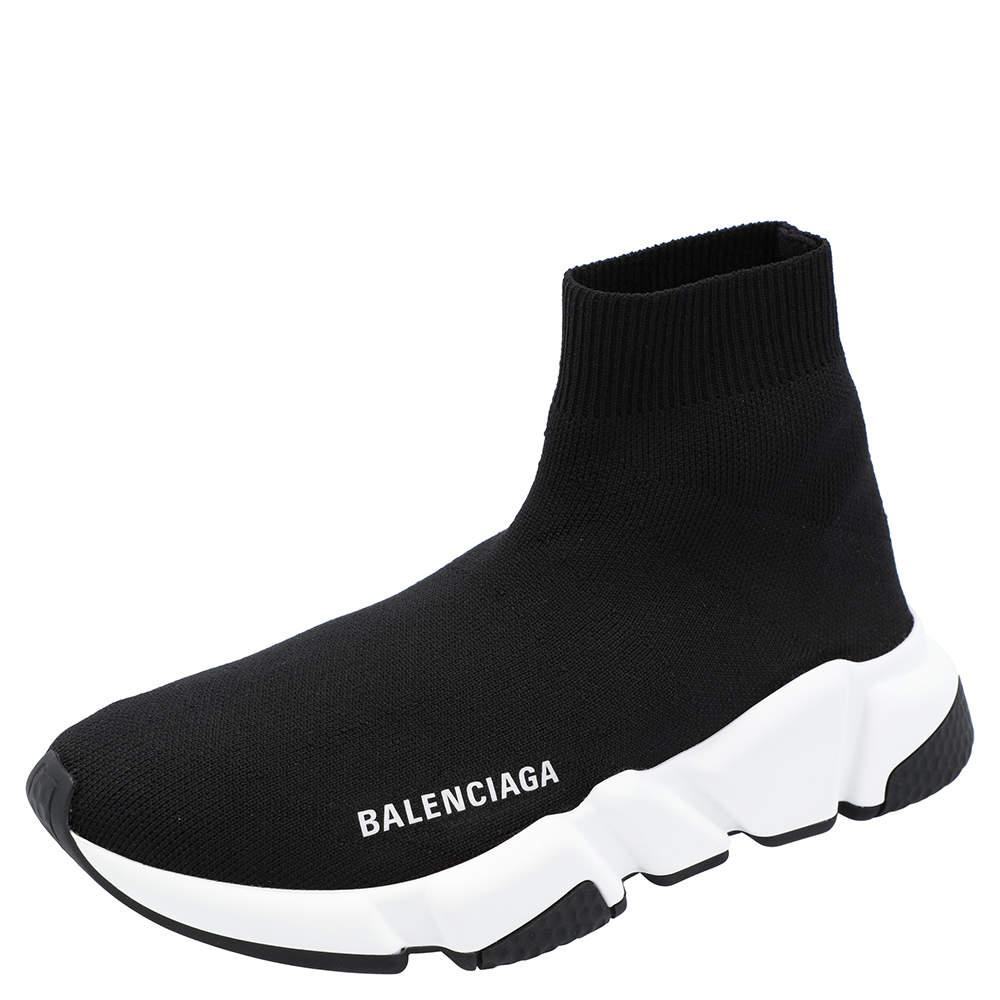 Balenciaga Black/White Speed Sneakers  Size EU 35